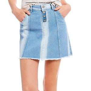 William Rast Aqua Streak Denim Mini Skirt 29 NWT